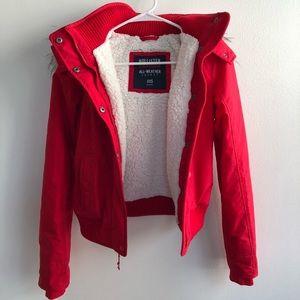 Hollister Red Jacket